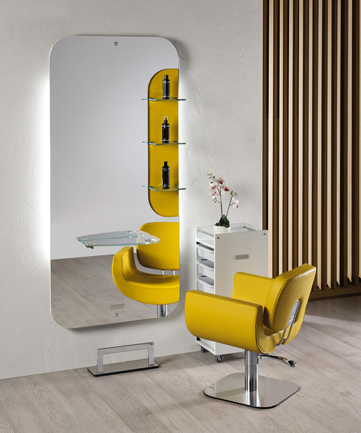 Hairdressing mirror: New York - Salon Ambience