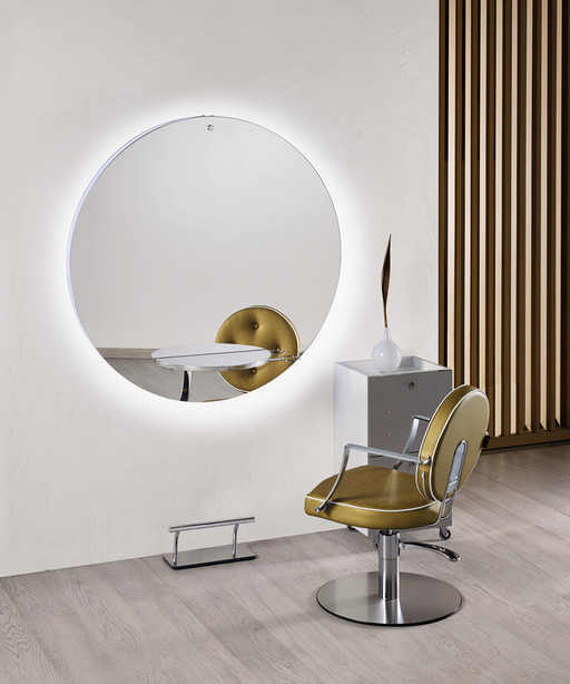 Hairdressing mirror: Planet - Salon Ambience
